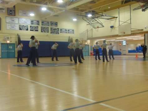 The RHS JROTC Unarmed Exhibition Platoon