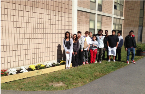 SeaCoast Students Standing Outside the School